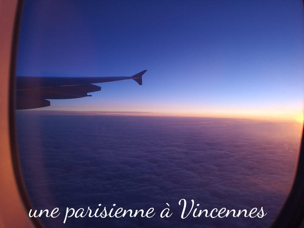 lever de soleil  vue d'avion