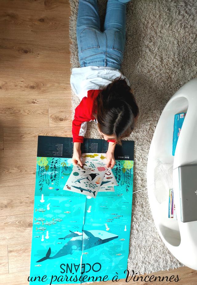 école à la maison  travailler sur les océans