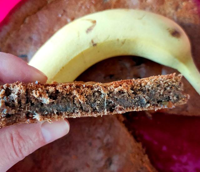 gâteau à la peau de banane