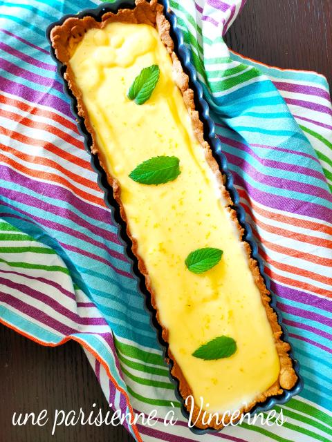 tarte au citron menthe