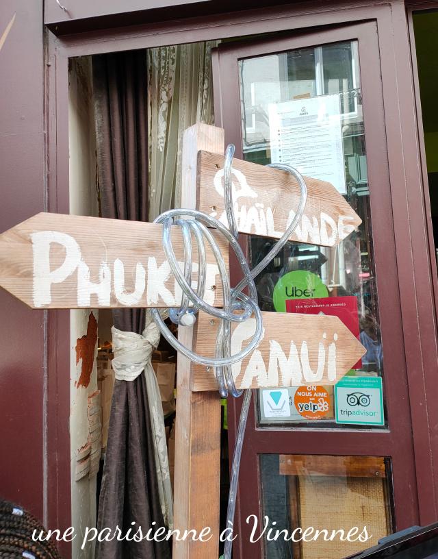 adresse restaurant thai a paris
