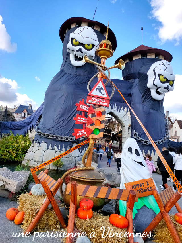 peur sur le parc asterix halloween